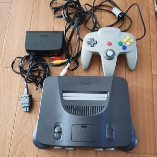 ニンテンドウ64(NINTENDO 64)のNINTENDO 64 ゲーム機 本体 ソフト 動作確認済(家庭用ゲーム機本体)