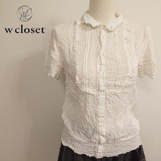 ダブルクローゼット(w closet)の♡w closet♡レース付 半袖ブラウス♡(シャツ/ブラウス(半袖/袖なし))
