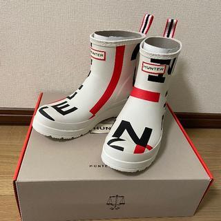 ハンター(HUNTER)の【新品】HUNTER ハンター ショートレインブーツ 24cm(レインブーツ/長靴)