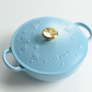 ルクルーゼ(LE CREUSET)のle creuset、鋳鉄、エナメル鍋、青い(鍋/フライパン)