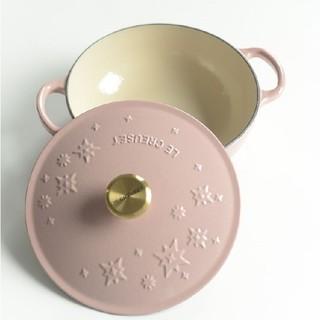 ルクルーゼ(LE CREUSET)のle creuset、鋳鉄、エナメル鍋、ピンク (鍋/フライパン)