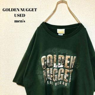 アメリヴィンテージ(Ameri VINTAGE)のUS輸入 GOLDEN NUGGET メンズ 半袖Tシャツ ビッグサイズ XL(Tシャツ/カットソー(半袖/袖なし))