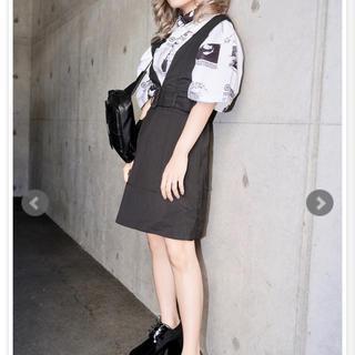 エーディージー(A.D.G)のA.D.G ビックシャツ サロペット スカート(Tシャツ(半袖/袖なし))