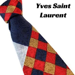サンローラン(Saint Laurent)の【1433】Yves Saint Laurent ネクタイ オシャレ 大きめ(ネクタイ)