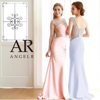 エンジェルアール(AngelR)のエンジェルアールAR angelRデコルテバックシアービジューロングドレス(ロングドレス)