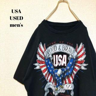 アメリヴィンテージ(Ameri VINTAGE)のUS輸入 PROUD&BRAVE USA メンズ 半袖Tシャツ アメリカ(Tシャツ/カットソー(半袖/袖なし))