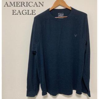 アメリカンイーグル(American Eagle)のAMERICAN EAGLE メンズ ネイビー カットソー(Tシャツ/カットソー(七分/長袖))