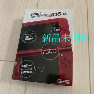 ニンテンドー3DS(ニンテンドー3DS)の新品未開封★Newニンテンドー3DS LL本体 メタリックレッド(携帯用ゲーム機本体)