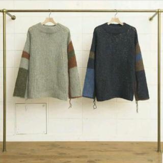 UNUSED - UNUSED 17AW hand knitting sweater ニット