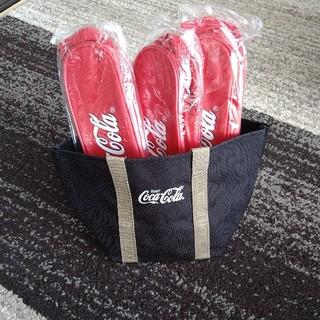 コカコーラ(コカ・コーラ)の非売品コカ・コーラトート&保冷ドリンクホルダーセット(ノベルティグッズ)