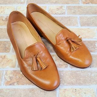 ディエッパ レストレポ ☆ タッセル レザー ローファー 6 ブラウン 革靴(ローファー/革靴)