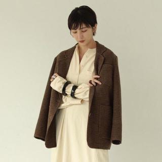 TODAYFUL - Wool Check Jacket ブラウン38サイズ