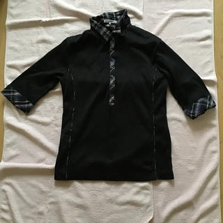 セマンティックデザイン(semantic design)のセマンティックデザイン カットソー五分袖中古品(Tシャツ/カットソー(七分/長袖))