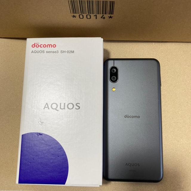 AQUOS(アクオス)のdocomo AQUOS sense3 SH-02M スマホ/家電/カメラのスマートフォン/携帯電話(スマートフォン本体)の商品写真