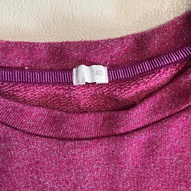 GU(ジーユー)の女の子 トップス Tシャツ 長袖 140cm  キッズ/ベビー/マタニティのキッズ服女の子用(90cm~)(Tシャツ/カットソー)の商品写真