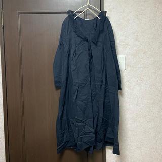 SM2 - TSUHARU 新品 衿ぐりレースはおりワンピース チャコール