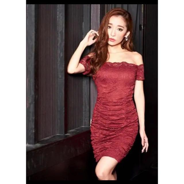 dazzy store(デイジーストア)の新品 タグ付き !総レース ワンカラー シンプル オフショル タイト ミニドレス レディースのフォーマル/ドレス(ナイトドレス)の商品写真