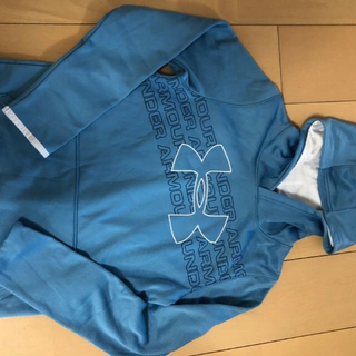 アンダーアーマー(UNDER ARMOUR)のアンダーアーマー  フリース ロゴ フーディー(トレーニング/パーカー) (Tシャツ/カットソー)