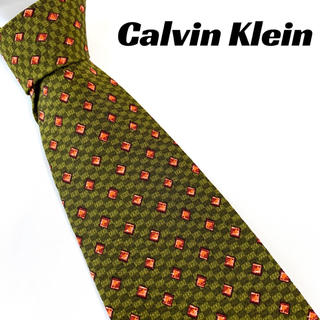 カルバンクライン(Calvin Klein)の【1452】美品!カルバンクライン ネクタイ グリーン系(ネクタイ)