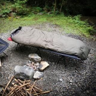ナンガ(NANGA)のオーロラ600DX ロング日本製シュラフ(NANGA/ナンガ) カーキ(寝袋/寝具)