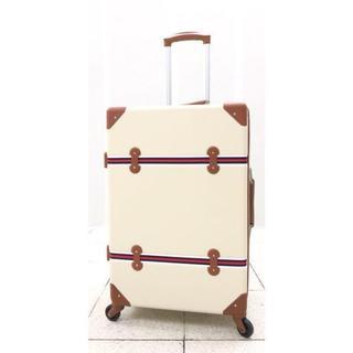 大型軽量スーツケース4輪キャスター TSAロック付き Lキャリーケース ベージュ(旅行用品)