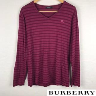 バーバリーブラックレーベル(BURBERRY BLACK LABEL)の美品 BURBERRY BLACK LABEL 長袖Tシャツ ボーダー サイズ3(Tシャツ/カットソー(七分/長袖))