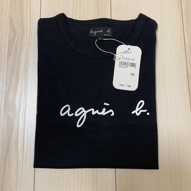 agnes b.(アニエスベー)の新品未使用 アニエスベー  Tシャツ Mサイズ ブラック レディースのトップス(Tシャツ(半袖/袖なし))の商品写真