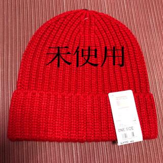 ユニクロ(UNIQLO)のユニクロ ヒートテック ニットキャップ  赤 (ニット帽/ビーニー)