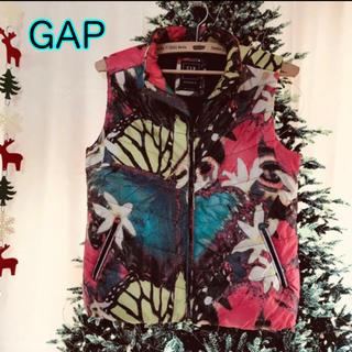 ギャップ(GAP)のギャップ 160 中綿ベスト フラワー柄 レディース S 花柄 軽くて暖か(ダウンベスト)