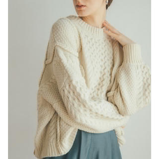 STUDIOUS - CLANE 3D CABLE WIDE KNIT TOPS 定番