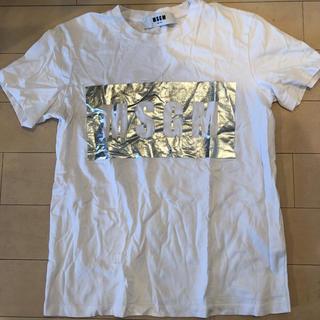 エムエスジイエム(MSGM)のMSGM シルバー Tシャツ ボックスロゴ(Tシャツ(半袖/袖なし))