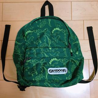 アウトドアプロダクツ(OUTDOOR PRODUCTS)のアウトドア outdoor products  リュック 男の子 恐竜 緑(リュックサック)
