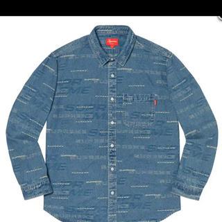 Supreme - 19fw 青 M supreme dimensions denim shirt