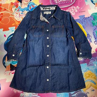 シューラルー(SHOO・LA・RUE)のシューラルー デニムワンピース 子供服(ワンピース)