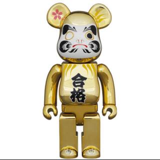 メディコムトイ(MEDICOM TOY)の新品 BE@RBRICK 達磨 合格 金メッキ 100%/ 400% セット販売(キャラクターグッズ)