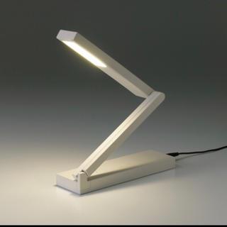 ムジルシリョウヒン(MUJI (無印良品))の新品★LED平面発光コンパクトデスクライト 照明 無印良品 muji ★限定⌘⁂(フロアスタンド)