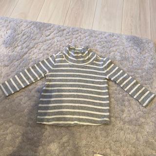 ベビーギャップ(babyGAP)のbabyGap ボーダー タートルロンT 80(Tシャツ)