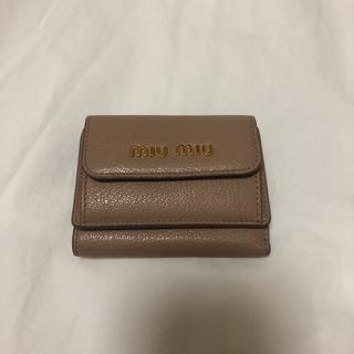 miumiu - miumiu三つ折財布