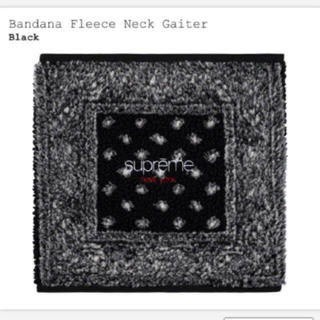 シュプリーム(Supreme)のsupreme bandana fleece neck gaiter 黒色(ネックウォーマー)