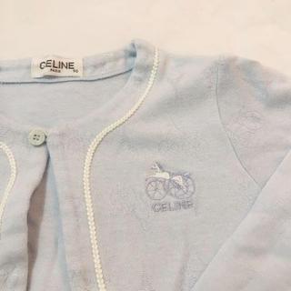 セリーヌ(celine)の美品 celine セリーヌ カーディガン 長袖 90 馬車 エッフェル塔(カーディガン)