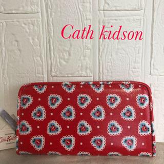 キャスキッドソン(Cath Kidston)の【新品】キャスキッドソン ハート柄長財布(財布)
