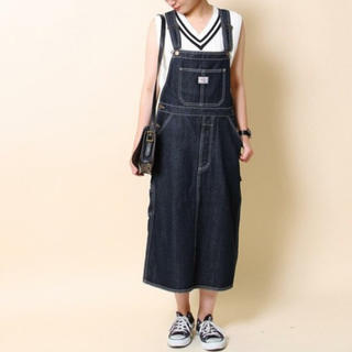 coen - coen デニム サロペットスカート ジャンパースカート サイズL