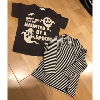 サンカンシオン(3can4on)のサイズ80  長袖&半袖Tシャツ 2枚セット ハロウィンにも…(Tシャツ)