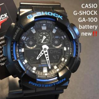 ジーショック(G-SHOCK)の【新品同様/電池新品】CASIO カシオ G-SHOCK GA-100 タグ付(腕時計(アナログ))
