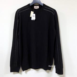 Hermes - 国内正規品 未使用 エルメス 最高級ウール レザートリミング ニット セーター