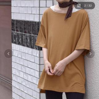 ダブルクローゼット(w closet)のスカーフ付きクルーネックbigプルオーバー(Tシャツ(半袖/袖なし))