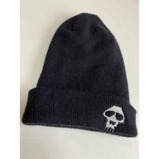 値下げしました!美品♫MADE IN USAのブラックニット帽子(ニット帽/ビーニー)