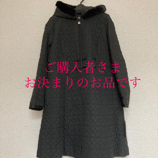 GALLERY VISCONTI - サイズ3☆新品 フェイクファーフード付きハート型キルティングロングコート