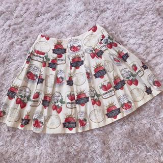 ピンクハウス(PINK HOUSE)の今週限定 レア strawberry skirt(ひざ丈スカート)