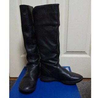 リーボック(Reebok)のイージートーン 本革ブーツ 24センチ 黒(ブーツ)
